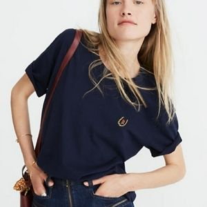 Madewell x Karen Walker Horseshoe Rose Cropped Tee